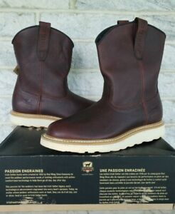 Red Wing Irish Setter Mens Ashby Wellington Work Boots Size 10.5 D Brown 83909