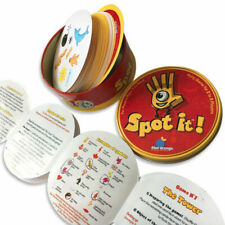 NEW Card Game SPOT IT per Home & Party Board Game Memory Recognition Metal Box