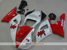 ABS Fairing fit for YAMAHA R1 00 01 2000 2001 RED WHITE RACE