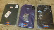 Dickies Men's Polo Shirts, Large, (Lot Of Three) Navy,Green  & Purple