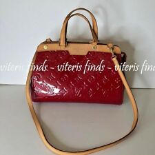 Louis Vuitton Brea PM Vernis Pomme D'Amour Red Monogram Shoulder Bag