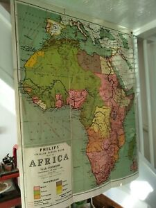 Original Vintage School Wall Map (1928) - Africa Political