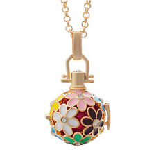Enamel Essential Oil Diffuser Locket Necklace Aromatherapy Chime Ball Pendant