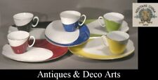 Noritake 5 Vintage Modernist Cups on Trays