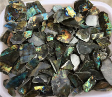 1/2lb Colourful Natural  Labradorite Mineral Rock Mineral Healing Crystal 3-5pcs