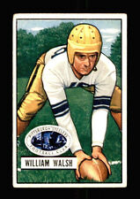 1951 Bowman William Bill Walsh Pittsburgh Steelers Notre Dame Football Card 23