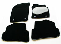 Carpet Car Floor Mats with Silver & Black Trim & Grey Heel Pad for BMW Z4 M 06>
