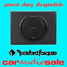 "ROCKFORD FOSGATE P300-10 10"" ACTIVE POWERED SUB SUBWOOFER AMPLIFIED BOX WIRING"