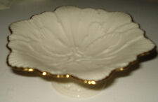 Lenox Footed Compote Bowl Flower Design Made in Usa C