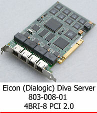 EICON DIALOGIC 803-008-01 800-665-01 PCI 4BRI-8 ISDN MODEM ISDN KARTE CARD