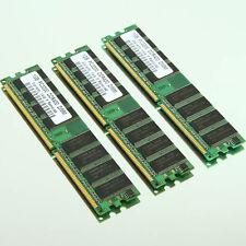 3GB 3x 1GB PC3200 DDR400 400Mhz Non-ECC 184pin DIMM Low Density Desktop Memory