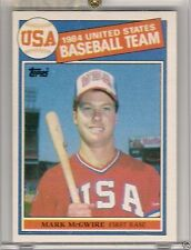 Mark Mcgwire Rookie Baseball Cards For Sale Ebay