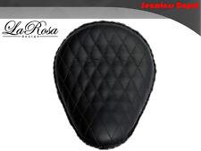 "La Rosa 13"" Black Leather Diamond Stitch Harley Springer Rigid Custom Solo Seat"