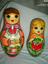 "2 Classic Russian Nesting Doll Set. Matryoshka  Dolls beautiful 11 & 14"" tall"