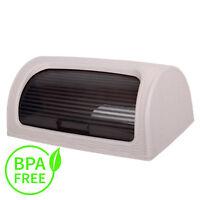 Plastic Bread Bin Box Kitchen Food Roll Top Storage Loaf Curved BPA Free Pink