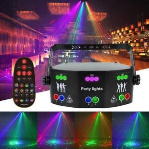 Laser LED Light Remote 15-EYE RGB DMX Scan Projector Strobe DJ Stage Lights