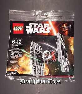 Star Wars Lego Poly Bag Force Awakens 1st Order Special Forces TIE Fighter 30276