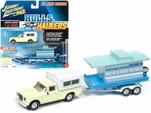 """1:64 1960 Studebaker Pickup Truck w/Houseboat -- """"Hulls & Haulers"""" -- Johnny Lig"""