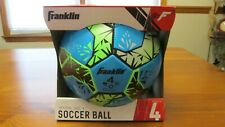 Franklin Size 4 Soccer Ball All Weather Conditions Ages 8-12 Blue Green Black
