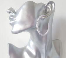 Unbranded Crystal Butterfly Fastening Hoop Costume Earrings