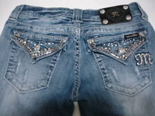 MISS ME Denim Women's Rhinestone Embellished Mid Rise Easy Boot Jeans Size 26