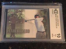 New listing 2001 Upper Deck Golf Leaderboard Tiger Woods Rookie #90 Beckett BCCG 10 MINT