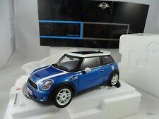 1:18 Kyosho Dealermodell Mini 80430410407 MINI COOPER S Fulmine Blu -raritaet §