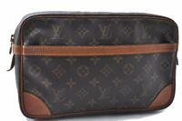 Authentic Louis Vuitton Monogram Compiegne 28 Clutch Hand Bag M51845 LV B9593