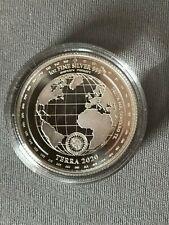 Tokelau Oncia  2020  Terra Argento 5 Dollari Elisabeth II $ proof  Ag .999