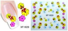 Nail Art Water Transfer Sticker Decal Stickers Pretty Flowers Pink Yellow Xf1020