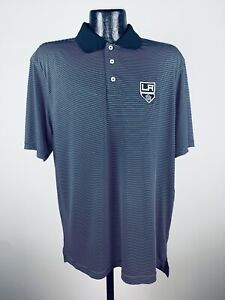 Men's Level Wear Los Angeles Kings Dunhill Black Performance Polo NWT Small