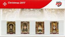 Malta 2017 MNH Christmas Baby Jesus Nativity 4v Set Presentation Pack Stamps