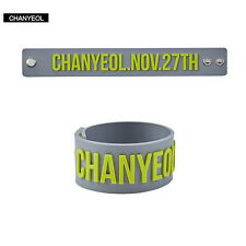 2017 Kpop EXO CHANYEOL Birthday Silicone Bracelet Bangles Wristband Rubber Band