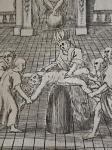 CORTEZ SOLIS CONQUETE MEXIQUE NOUVELLE ESPAGNE 1759 Amerique Azteque Sacrifice