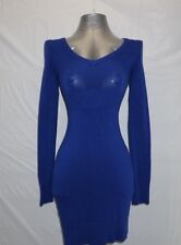Guess Womens Dress Small Blue Form Fitting Bodycon Lace Up Back S Stretch
