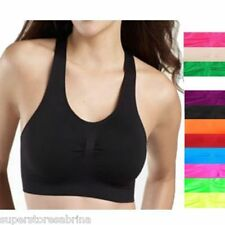 Black - Seamless Non-Padded Racerback Sports Bra Exercise Yoga Fitness Top