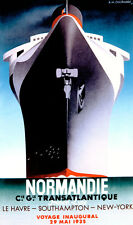 3027.Normandie Transtlantic Ship Travel POSTER.Art decoration home room office