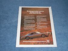 """1971 Buick Riviera GS Vintage Color ad We Give You Better Reasons To Buy... """""""