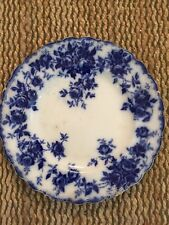 Antique J&G Meakin Flow Blue Leon Dinner Plate With Chips