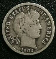 1902-S San Francisco Mint Silver Barber Dime