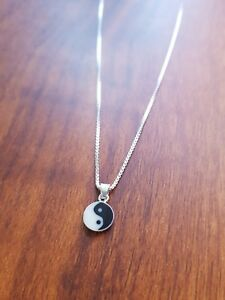 Yin Yang (small) Necklace GypsyLee Jewels SterlingSilver 925 Stamped Choker 40cm