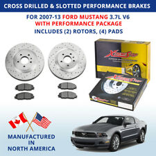 Cross Drilled Slotted Performance Brakes 2007-13 Ford Mustang V6 w/Perf Package