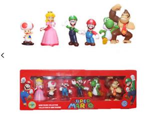 Super Mario / Peach,Toad,Mario,Luigi,Yoshi,Donkey Kong Figurenset NEU! OVP