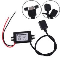 Single/Dual USB 12V 24V to 5V DC/DC Step-down Power Adapter Converter  UK