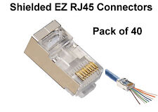 40 x DATAPRO FTP RJ45 EZ-RJ45 NETWORK LAN SHIELDED CRIMP CONNECTORS CAT5e CAT6