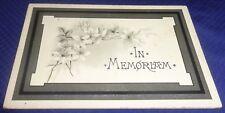 SE951 Vtg Funeral Card In Memoriam Clinton ON Rev. John F. Rittenhouse 1903
