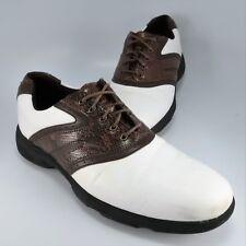 Etonic Lite-Tech Lt80-14 Golf Shoes Mens Size 9M White & Brown Snake Soft Spikes