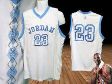 Nike JORDAN Premium 23 Basketball Shirt NWT White / Sky Blue Diamond Trim M