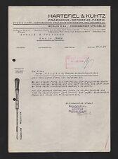 BERLIN, Brief 1938, Hartefiel & Kuhtz Präzisions-Werkzeug-Fabrik Drillschraubenz