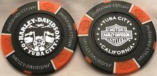 Harley-Davidson® of Yuba City, CA Collector Poker Chip Black/Orange NEW